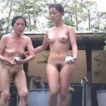 【風呂盗撮】盗撮 露天風呂② 自然の中で開放的に楽しむ娘達・・・。