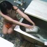 【風呂盗撮】美少女○kの妹が入浴中に・・・
