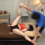 【SEX盗撮】エアロビで疲労した身体をオイルエステでほぐしにきた女性会員が・・・【マッサージ盗撮】
