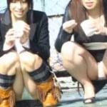 【パンチラ盗撮】パンティー全開!しゃがみ込み乙女 vol.09 まああれなんですがモッコリが素敵なもので