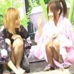 【パンチラ盗撮】浴衣姿の娘のパンティが見たいんです!Scene1