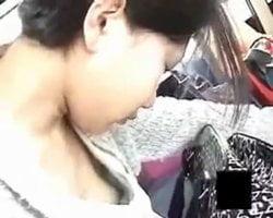 【胸チラ隠撮】バス車内隣で眠りこける女性の乳首をこっそり隠し撮り 胸ちら乳首ちら