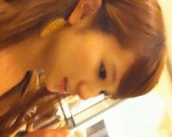【パンチラ隠撮】★高画質★S級美人店員の座りパンチラの撮影に成功!