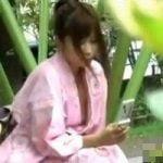 【胸チラ隠撮】浴衣ギャル胸チラ乳首チラ