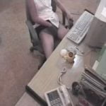 【オナニー隠撮】防犯カメラの存在も忘れて事務所でオナニーしてしまったOL