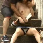 【悪戯隠撮】街行く女性のオッパイを荒々しく揉みしだく【痴漢隠撮】