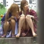 【パンチラ隠撮】浴衣姿の娘のパンティが見たいんです!Scene2