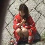 【パンチラ隠撮】浴衣姿の娘のパンティが見たいんです!Scene4