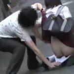 【悪戯隠撮】JK限定!スカートめくり強襲撮【痴漢隠撮】