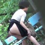 【小便隠撮】オシッコは急に止まらない!他人に見られた野ション現場