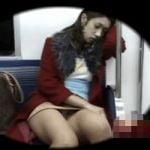 【パンチラ隠撮】電車内の対面パンチラ 揺れる度に足が開いたり閉じたり