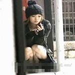 【パンチラ隠撮】街中で見かけた美ギャルの食い込みパンチラ