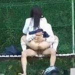 【青姦隠撮】真っ昼間からカップルが堂々と公園で盛っててワロタwww