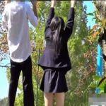 【パンチラ隠撮】青春パンチラ 彼氏と鉄棒遊びしていた女子校生