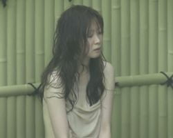 【風呂隠撮】真夏の露天風呂 お湯と気温でノボせてしまったお姉さん