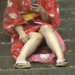 【パンチラ隠撮】浴衣パンチラ 浴衣からのぞく下着のエロさは通常の2割増し!