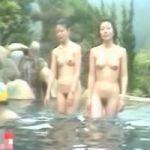 【風呂隠撮】多くの女性客で賑わう絶景露天風呂 皆さん乳もマン毛もモロ出しでウロウロしています