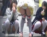 【パンチラ隠撮】街角の制服パンチラ リクスー、ミニスカニーソ、OLなど