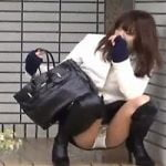 【パンチラ隠撮】街で見かけたちょいエロ透けパンチラ