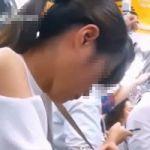 【痴漢隠撮】一度狙いを付けた獲物は絶対に逃がさない!街で見かけた女性を執拗に追いかけて満員電車内で痴漢を決行!