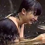 【風呂隠撮】露天隠し撮り 友達と打たせ湯を楽しむ女の子