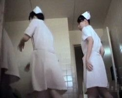【小便隠撮】撮影者の執念がガチ過ぎてヤバいww看護学校女子トイレ個室に一日中潜伏→生徒の排泄現場を根こそぎ隠し撮り!